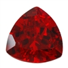 Cubic Zirconia - Hessonite Garnet - Trillion 8mm