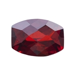 Cubic Zirconia - Hessonite Garnet - Barrel - Checkerboard 13mm x 18mm Pkg - 1