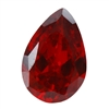 Cubic Zirconia - Hessonite Garnet - Pear 6mm x 9mm
