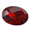 Cubic Zirconia - Hessonite Garnet - Oval - Checkerboard 10mm x 14mm