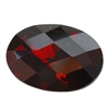 Cubic Zirconia - Hessonite Garnet - Oval - Checkerboard 13mm x 18mm