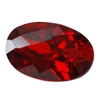 Cubic Zirconia - Hessonite Garnet - Oval - Checkerboard 4mm x 6mm