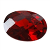 Cubic Zirconia - Hessonite Garnet - Oval - Checkerboard 5mm x 7mm