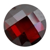 Cubic Zirconia - Hessonite Garnet - Cabochon Round - Checkerboard 10mm