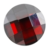 Cubic Zirconia - Hessonite Garnet - Cabochon Round - Checkerboard 14mm