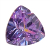 CZ: Trillion 4x4mm Lavender Pkg - 4