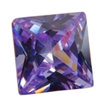 Cubic Zirconia - Lavender - Square 8mm