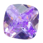 Cubic Zirconia - Lavender - Cushion - Checkerboard 4mm