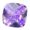 Cubic Zirconia - Lavender - Cushion - Checkerboard 6mm