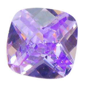 Cubic Zirconia - Lavender - Cushion - Checkerboard