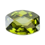 Cubic Zirconia - Olivine - Barrel - Checkerboard