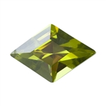 Cubic Zirconia - Olivine - Diamond 9mm x 13mm Pkg - 1