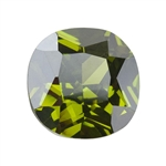 Cubic Zirconia - Olivine - Cushion 10mm