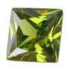 Cubic Zirconia - Olivine - Square 8mm