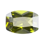 Cubic Zirconia - Olivine - Barrel 6mm x 8mm