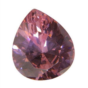 Cubic Zirconia - Pink Sapphire - Pear