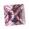 Cubic Zirconia - Pink Sapphire - Square 8mm