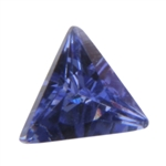 CZ: Triangle 3x3mm Tanzanite - Pak of 5