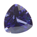 CZ: Trillion 4x4mm Tanzanite - Pak of 2