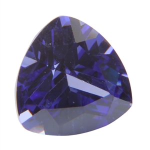 CZ: Trillion 6x6mm Tanzanite - Pak of 1