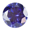 Cubic Zirconia - Tanzanite - Round 8mm