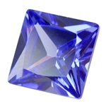 Cubic Zirconia - Tanzanite - Square 8mm