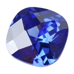 Cubic Zirconia - Tanzanite - Cushion - Checkerboard 6mm Pkg - 2