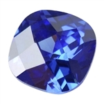 CZ: Tanzanite - Cushion - Checkerboard 10mm Pkg - 1
