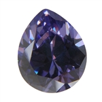 CZ: Tanzanite - Pear 10mm x 12mm Pkg - 1