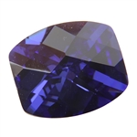 Cubic Zirconia - Dark Tanzanite - Barrel - Checkerboard