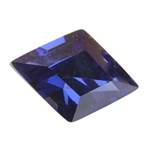Cubic Zirconia - Dark Tanzanite - Diamond 9mm x 13mm Pkg - 1