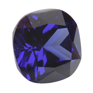 Cubic Zirconia - Dark Tanzanite - Cushion