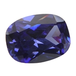 Cubic Zirconia - Dark Tanzanite - Barrel 11mm x 15 mm Pkg - 1