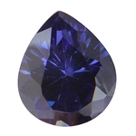 CZ: Dark Tanzanite - Pear 12mm x 14mm Pkg - 1