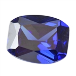 Cubic Zirconia - Tanzanite - Barrel 8mm x 10mm