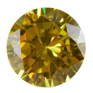 CZ: Round 8mm Yellow Diamond - Pak of 2