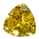CZ: Trillion 5x5mm Yellow Diamond - Pak of 5