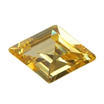 Cubic Zirconia - Yellow Diamond - Diamond 9mm x 13mm Pkg - 1