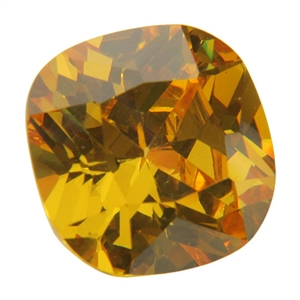 Cubic Zirconia - Yellow Diamond - Cushion
