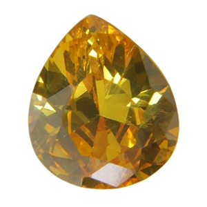 Cubic Zirconia - Yellow Diamond - Pear