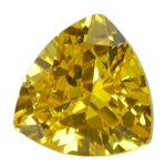 Cubic Zirconia - Yellow Diamond - Trillion