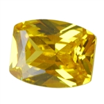 Cubic Zirconia - Yellow Diamond - Barrel
