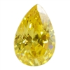 Cubic Zirconia - Yellow Diamond - Pear 6mm x 9mm