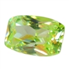 Cubic Zirconia - Green Apple - Barrel 4mm x 6mm