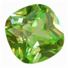 CZ: Cubic Zirconia - Green Apple - Cushion 14mm Pkg - 1
