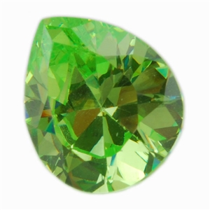 Cubic Zirconia - Green Apple - Pear