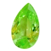 Cubic Zirconia - Green Apple - Pear 6mm x 9mm