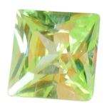 Cubic Zirconia - Green Apple - Square
