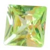Cubic Zirconia - Green Apple - Square 6mm