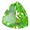 Cubic Zirconia - Green Apple - Trillion 4mm